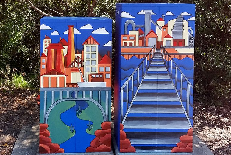 Risen From The Flames - Signal Box Commission, Lane Cove Council