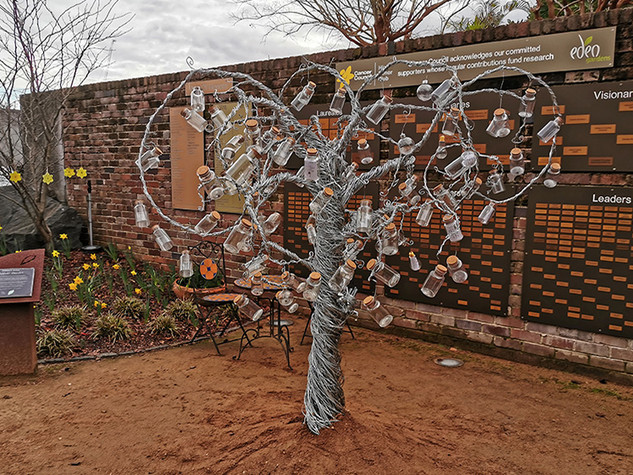 Sculpture Installation - Message Tree by Matt McLarty