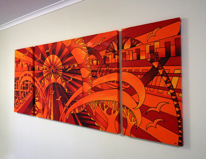 Triptych Commission Piece - Private Collector