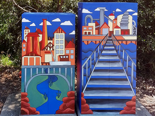 Matt McLarty - Signal Box Commission, Lane Cove Council