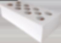 Кирпич силикатный одинарный рядовой пуст