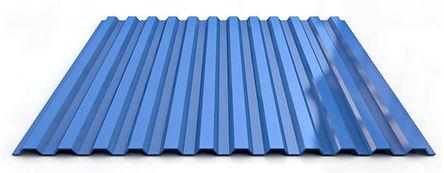 Профнастил цветной синий