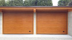 sezionale garage colore legno