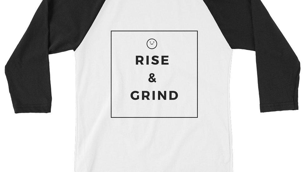 Rise & Grind 3/4 sleeve raglan shirt