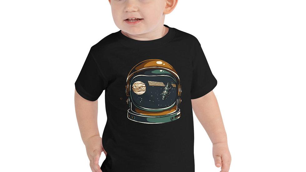 Space Helmet Toddler Short Sleeve Tee