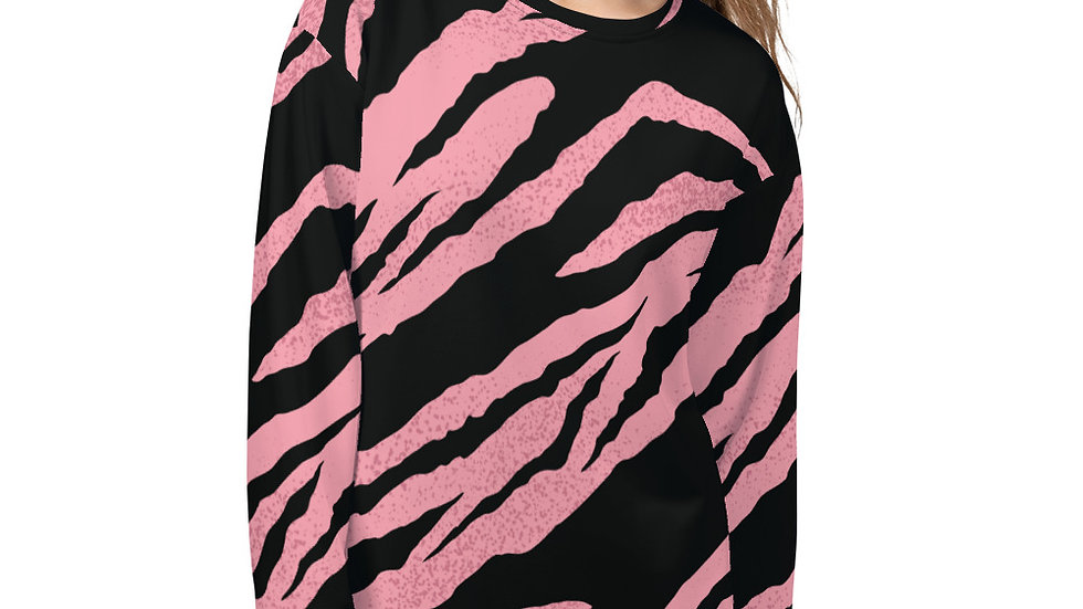Pink Tiger Unisex Sweatshirt (Support Breast Cancer Research)