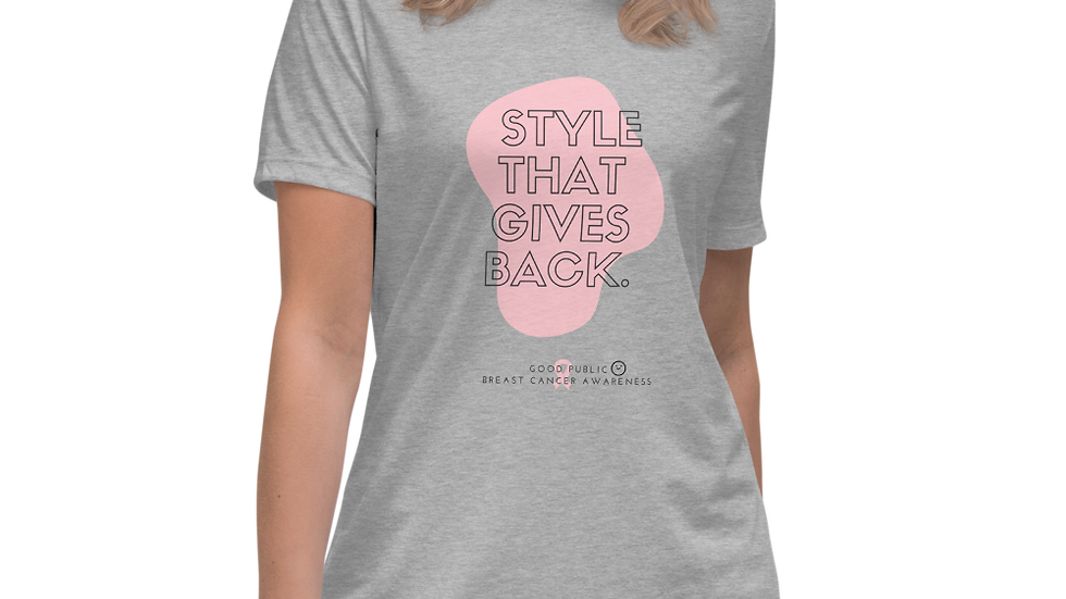 Style that gives back Cancer Awareness Women's Relaxed T-Shirt