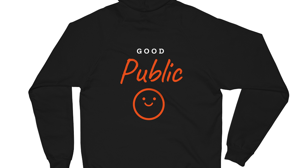 GoodPublic Logo Red Unisex Fleece Hoodie