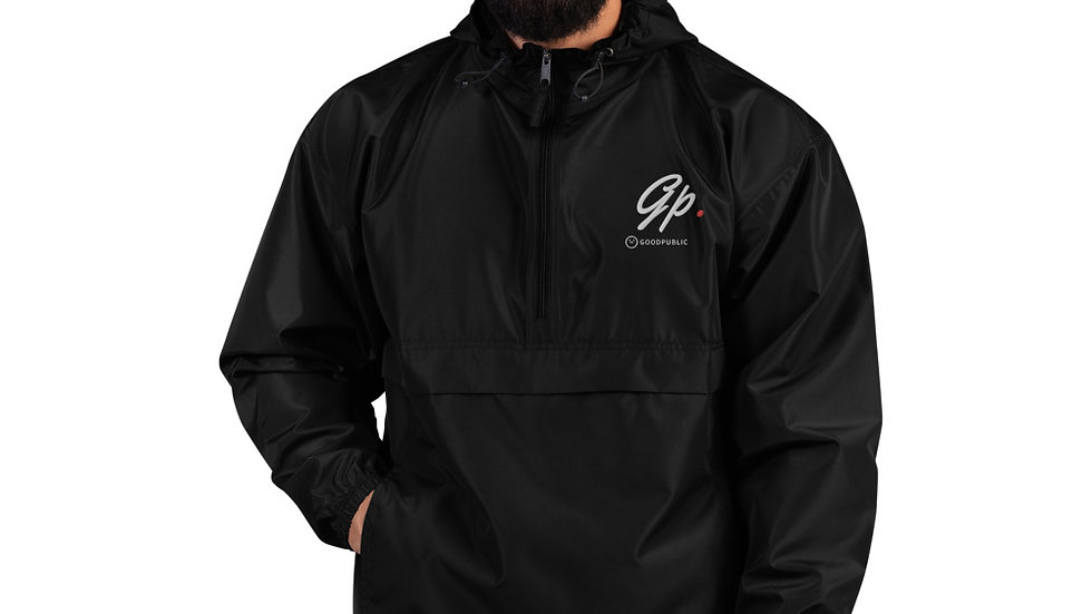 GP Embroidered Packable Wind Resistant Pullover Jacket