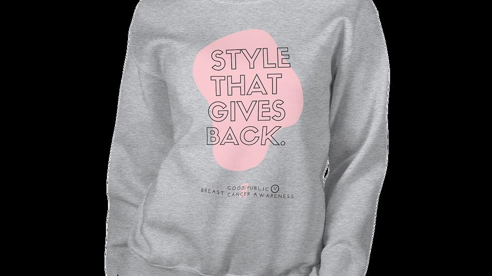GoodPublic Breast Cancer Awareness unisex sweatshirt
