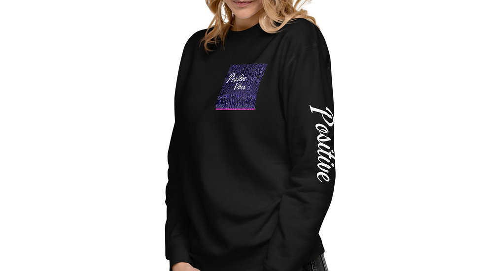 Positive Vibes Unisex Fleece Pullover
