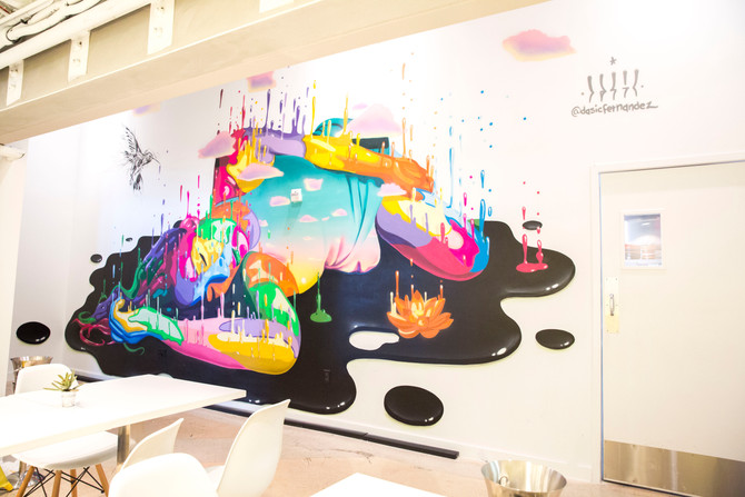 Dasic Fernandez aspirational mural for the Luxury Brand Partners headquarters.