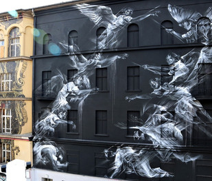"""Aaron Li-Hill """"Rise and Fall"""" for One Wall  Project 