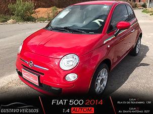 FIAT 500 1.4 FLEX AUTOMÁTICO COMPLETO COM APENAS 39MIL KM RODADOS