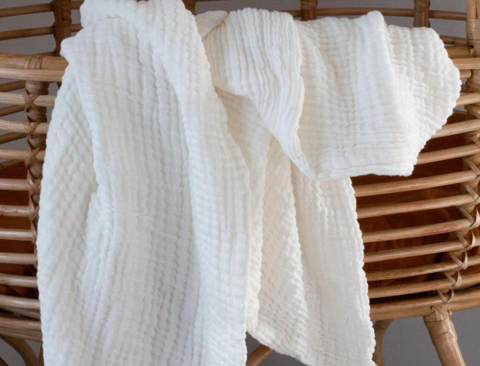 Layered Muslin Blanket – Natural