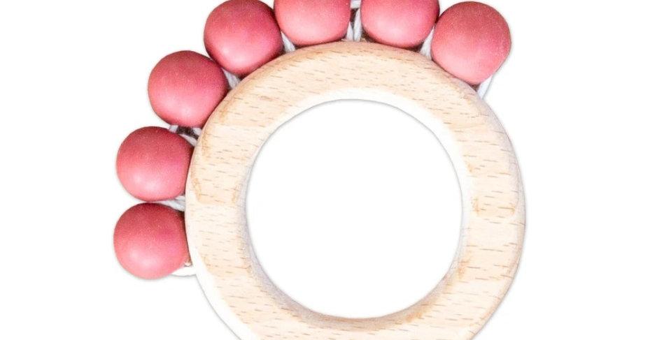 Perla Teething Ring - Red