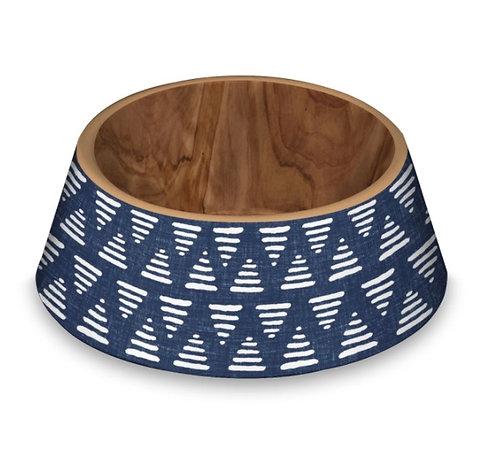 Blue Pattern Pet Bowl