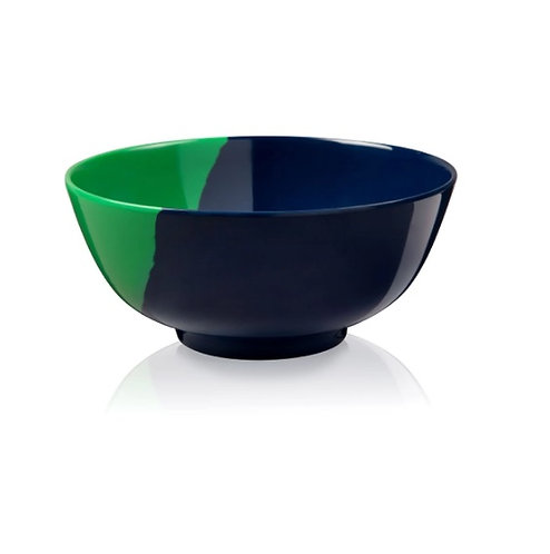 Blue & Green Melamine Indoor & Outdoor Bowl