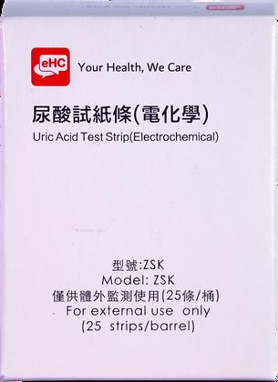 eHC 尿酸試纸條(電化學) - 25張 (EAN: 4897099040057) (不適用於買滿$600送口罩優惠)