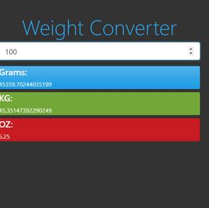 Weight Converter Web App