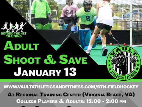 Adult & College Field Hockey Shoot & Save Clinic + Pick-up