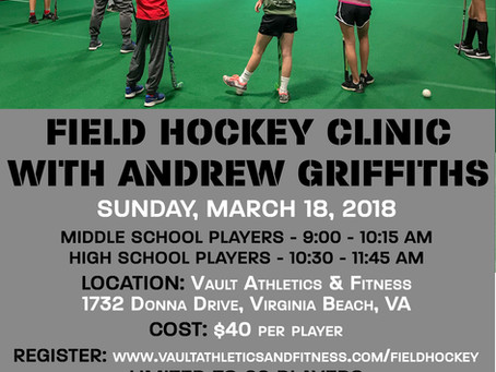Vault March Field Hockey Clinics