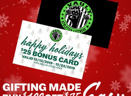 Receive a bonus $25 gift card
