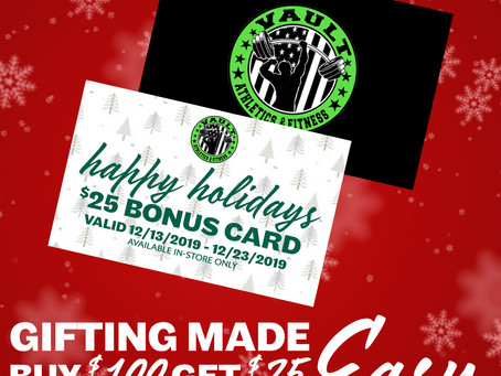 Receive a bonus $25 gift card
