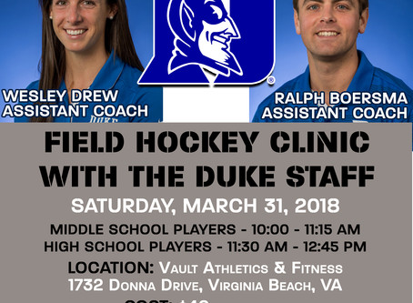 Vault Field Hockey Clinics