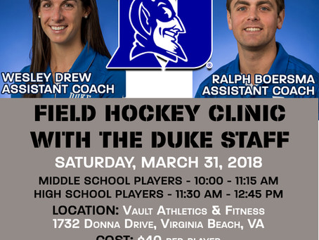 Vault Field Hockey Clinics