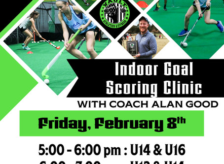 Field Hockey Indoor Goal Scoring Clinic