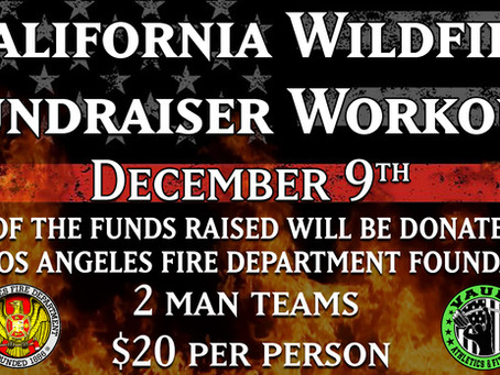 California Wildfire Fundraiser Workout