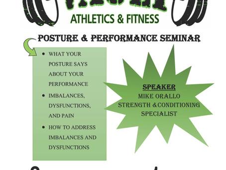 Posture & Performance Seminar
