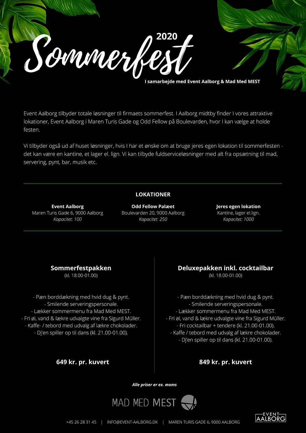 Event Aalborg - Sommerfest 2020, side 1.