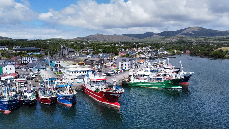 Martine Healy: Fishing Boats  at Castletownbere, Co. Cork.