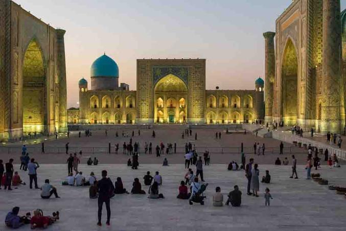 Gerry Fitzgerald: Registan, Samarkand, Uzbekistan