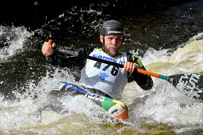 Mick Feeney: Canoe Slalom  on the River Liffey (2021)
