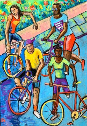 Let's Ride  £480 (framed)
