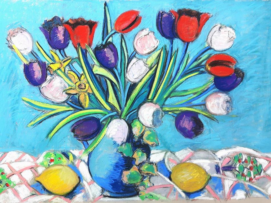 Tulips and Lemons  £620 ( framed )