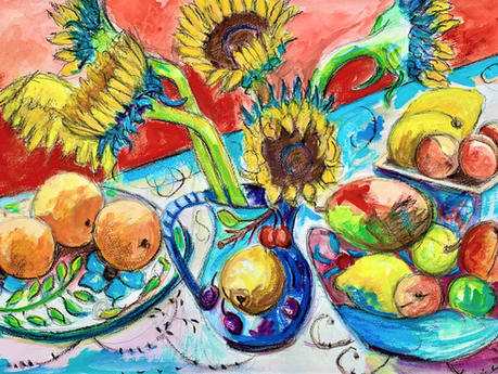 Sunflowers and  Fruit £620( framed)