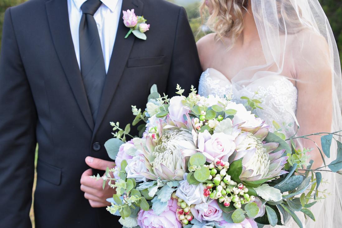Wedding Bouquet Hire - Blush Natives