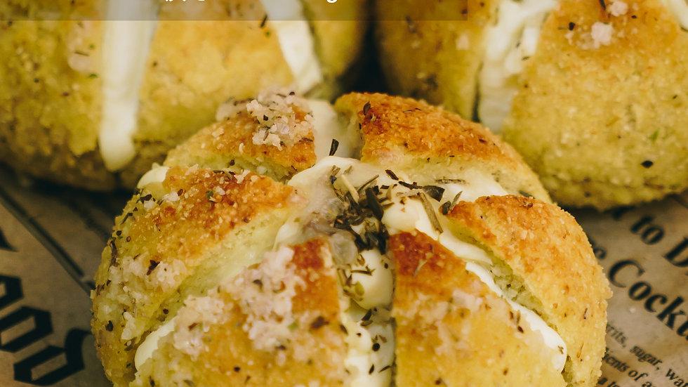 生酮忌廉芝士大蒜包 Keto Cream Cheese Garlic Bun