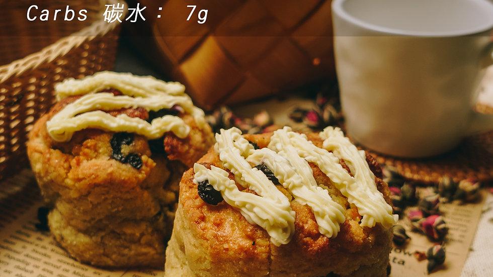 生酮藍莓鬆餅 Keto Blueberry Scone