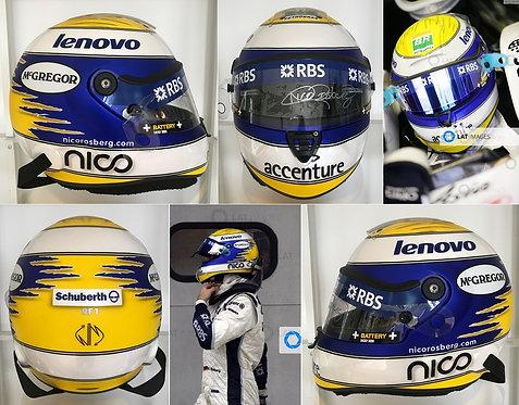 Official Schuberth replica helmet 2008 Nico Rosberg Williams Signed