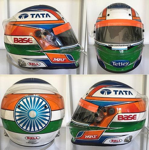 Race helmet Bell HP3 2012 Narain Karthikeyan HRT F1 Team
