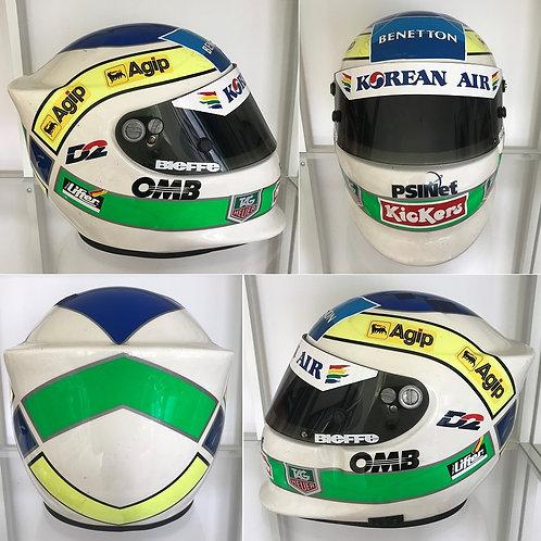 Race helmet 1999 Giancarlo Fisichella Benetton test Monza + COA
