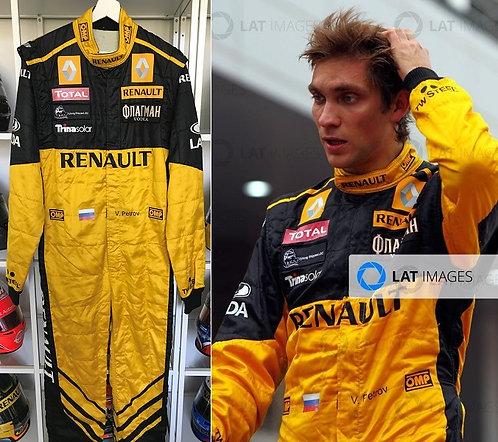 Race suit 2010 Vitaly Petrov Renault Japan + Korean GP
