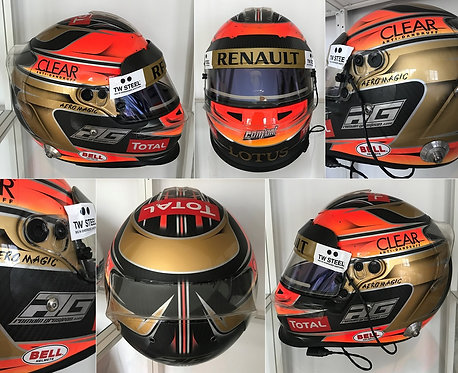 Race helmet 2012 Bell HP3 Romain Grosjean Lotus F1 Team