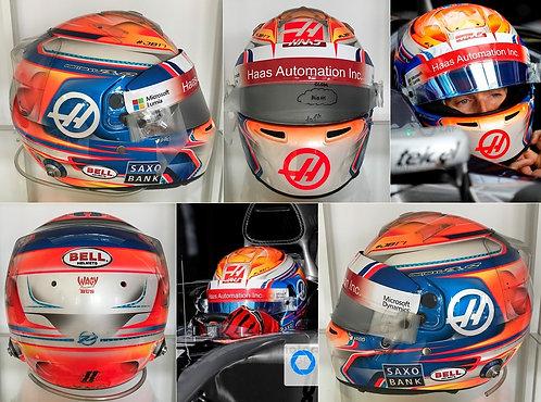 Race helmet Bell HP7 EVO Romain Grosjean 2016 Haas F1 Team