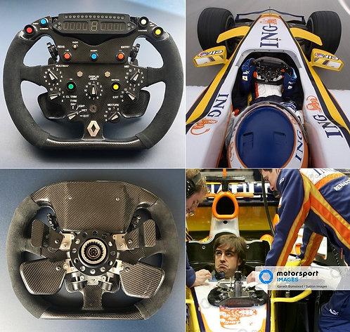 Race steering wheel 2008 ING Renault F1 Team Alonso Piquet Jr.
